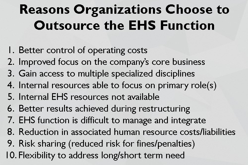 EHS Outsourcing